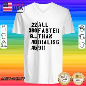 All Faster Than Dialing 911 V-neck