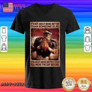 American Football It Is About Being Better Than You Were The Day Before V-neck