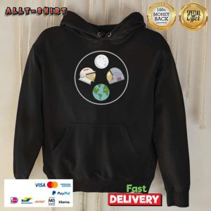 CCCP And American Astronaut Moon And Earth Hoodie