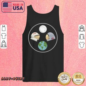CCCP And American Astronaut Moon And Earth Tank Top