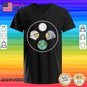 CCCP And American Astronaut Moon And Earth V-neck