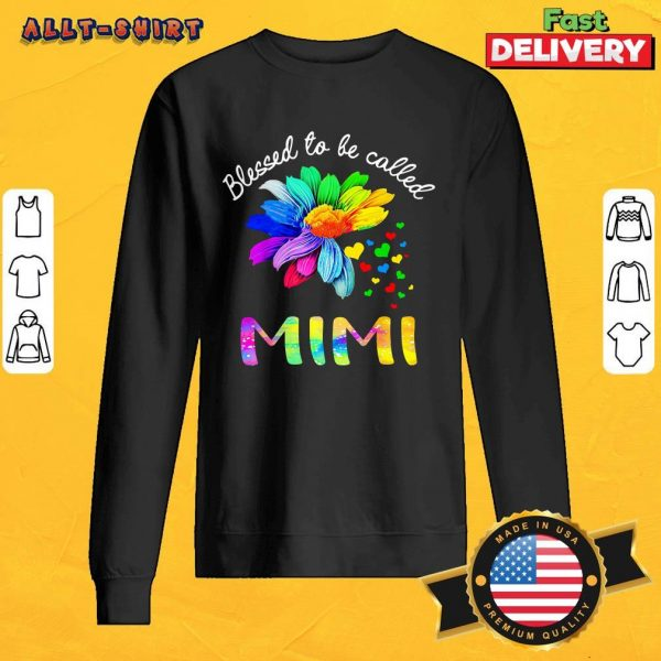 Flower Heart Blessed To Be Called Mimi SweatShirt