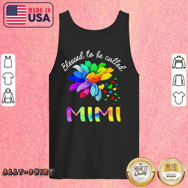 Flower Heart Blessed To Be Called Mimi Tank Top