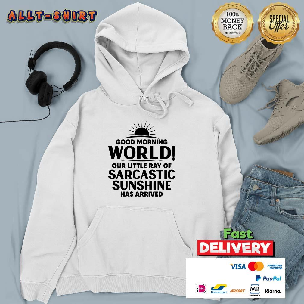 Good Morning World Our Little Ray Of Sarcastic Sunshine Has Arrived Hoodie
