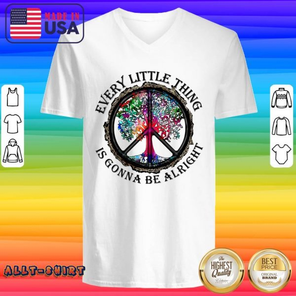 Hippie Tree Every Little Thing Is Gonna Be Alright V-neck