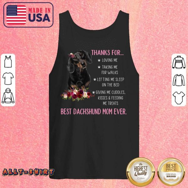 Thanks For Happy Mother's Day To Best Dachshund Mom Ever Tank Top