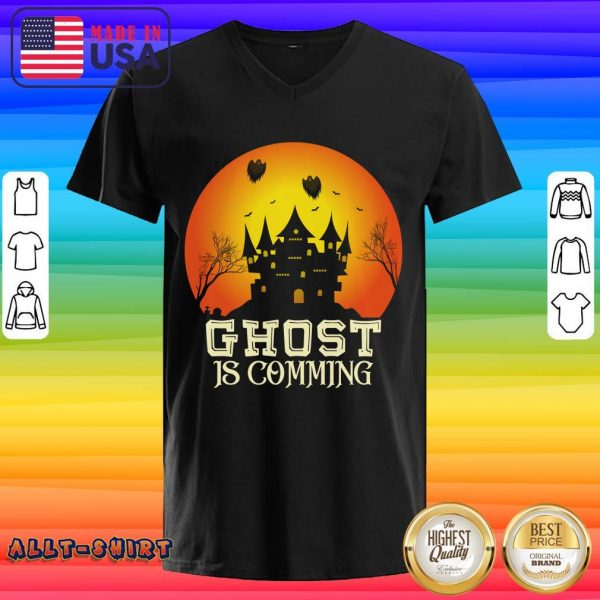 Ghost Is Comming Halloween V-neck