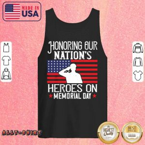 Honoring Our Nations Heroes On Memorial Day American Flag Tank Top
