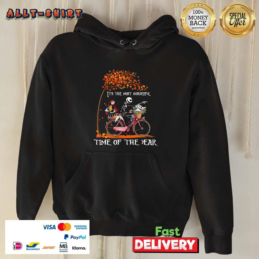 Jack Skellington Sally And Zero It Is The Most Wonderful Time Of The Year Halloween Hoodie