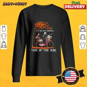 Jack Skellington Sally And Zero It Is The Most Wonderful Time Of The Year Halloween Sweatshirt