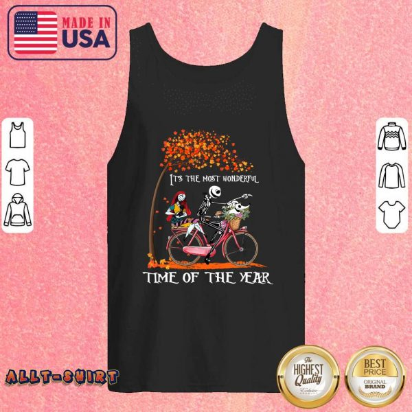 Jack Skellington Sally And Zero It Is The Most Wonderful Time Of The Year Halloween Tank Top