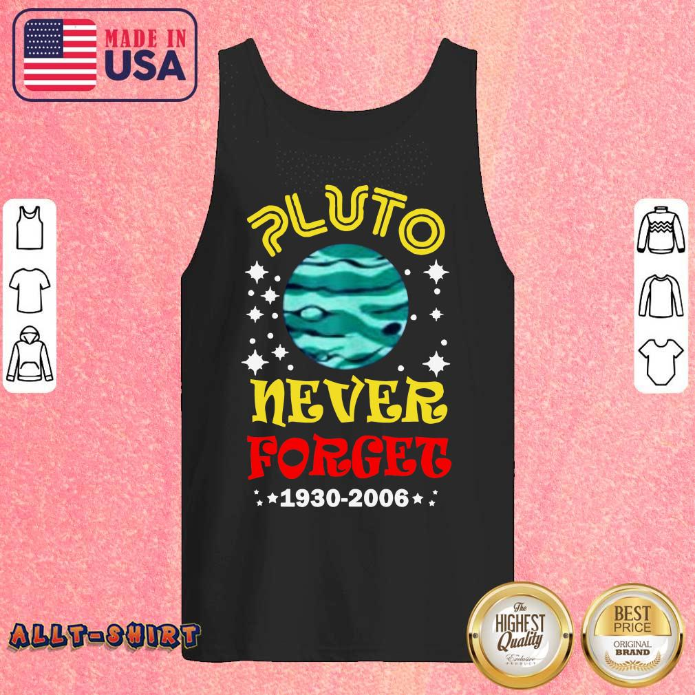 Pluto Never Forget 1930 2006 Tank Top