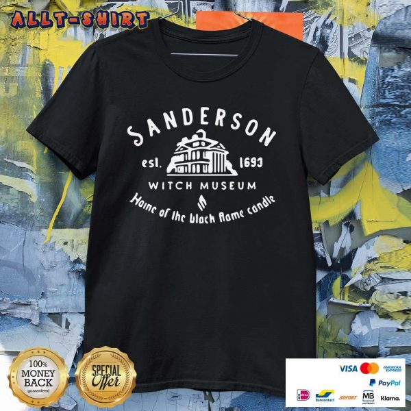 Sanderson Witch Museum Home Of The Black Flame Candle Shirt