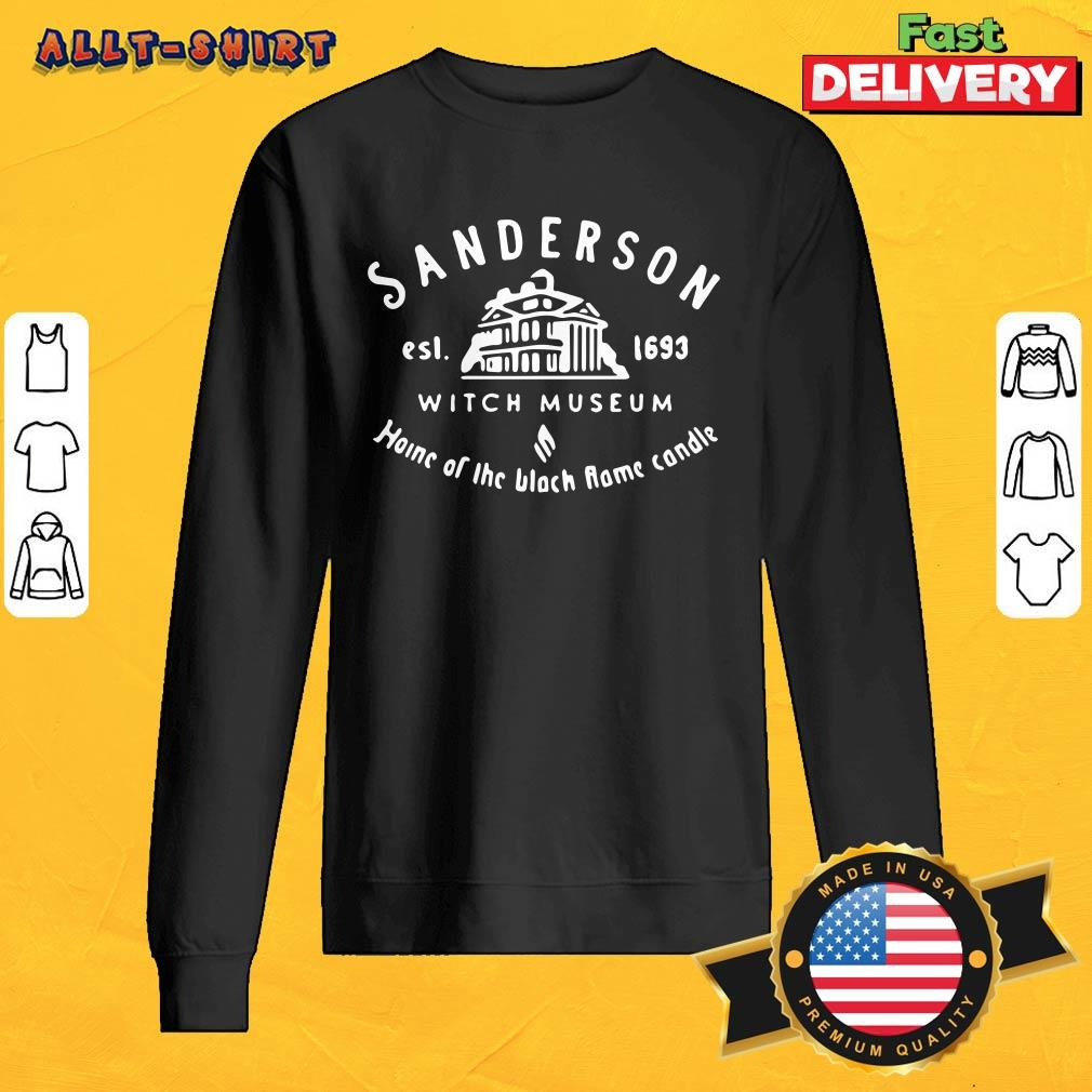 Sanderson Witch Museum Home Of The Black Flame Candle Sweatshirt