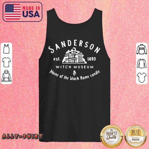 Sanderson Witch Museum Home Of The Black Flame Candle Tank Top