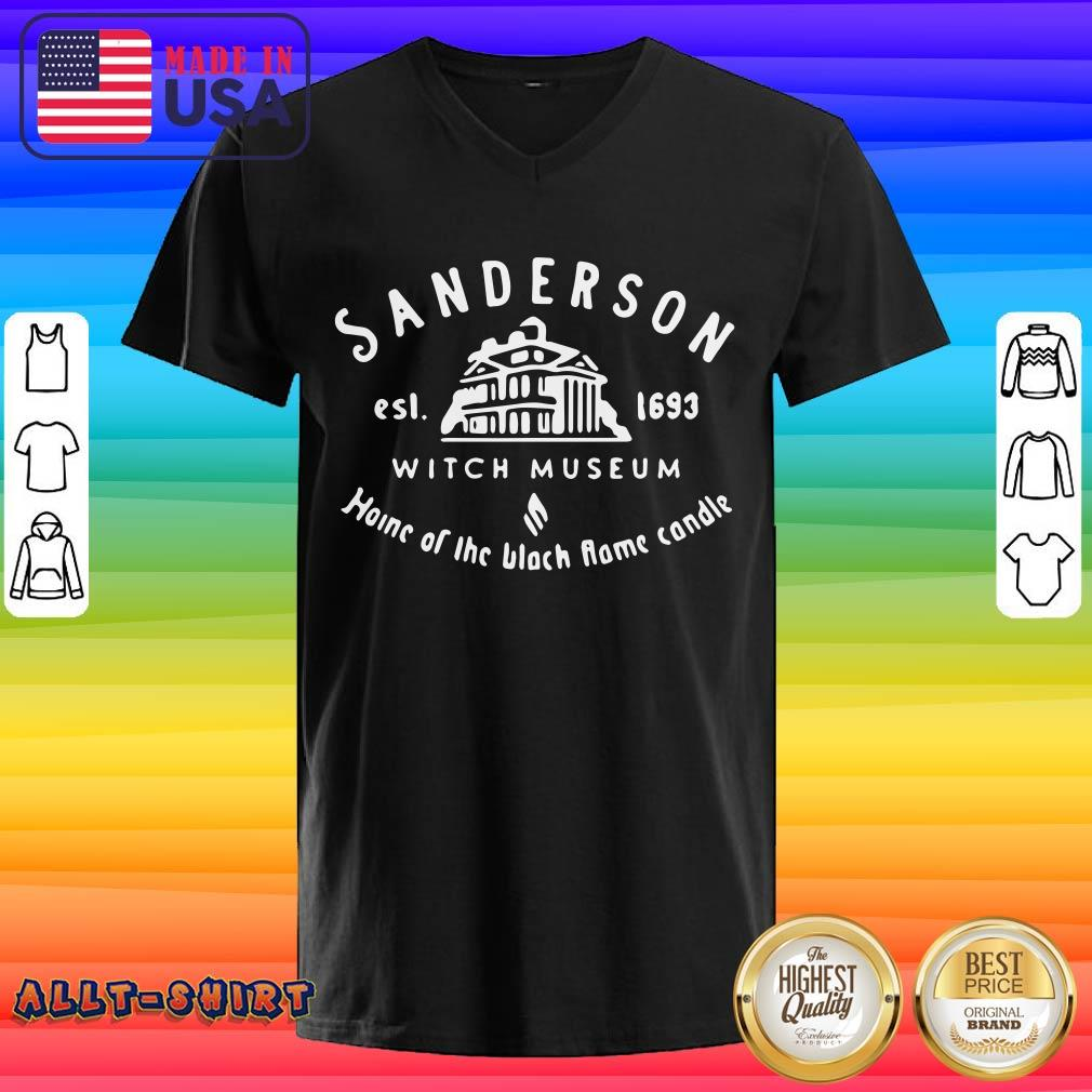 Sanderson Witch Museum Home Of The Black Flame Candle V-neck