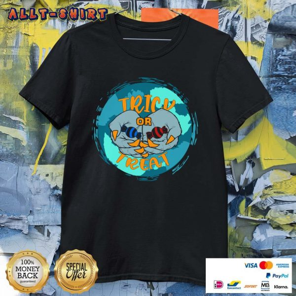 Vampire Hands With Candy Trick Or Treat Halloween Shirt