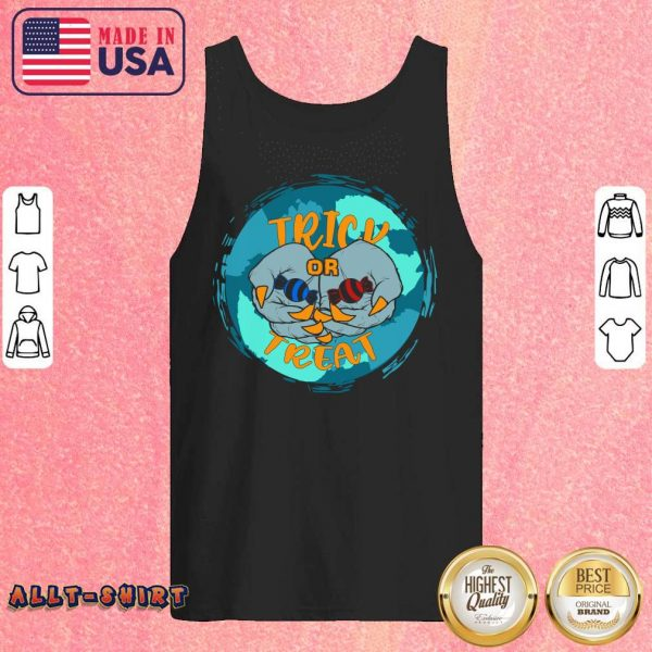 Vampire Hands With Candy Trick Or Treat Halloween Tank Top