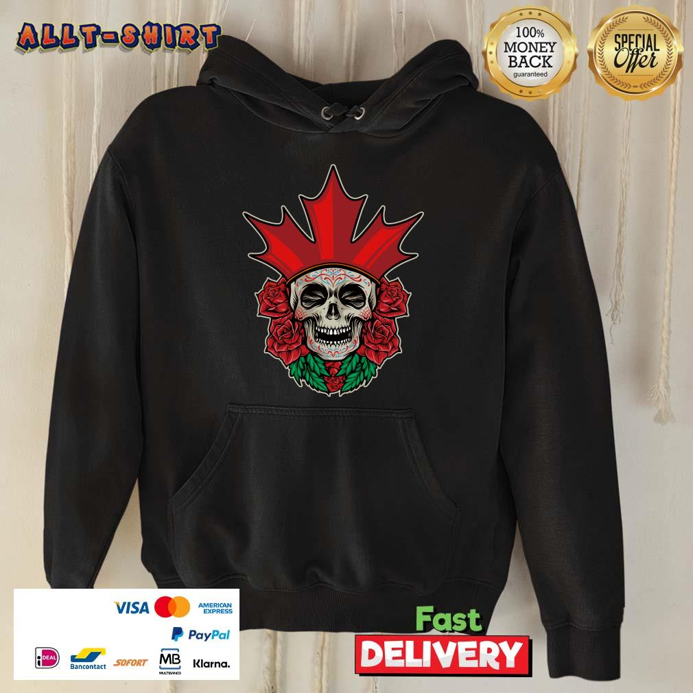 King Skull Day Of The Dead Rose Hoodie