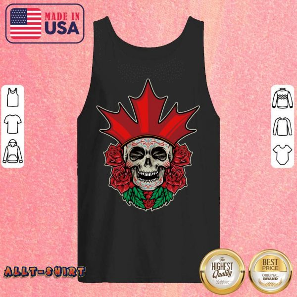 King Skull Day Of The Dead Rose Tank Top