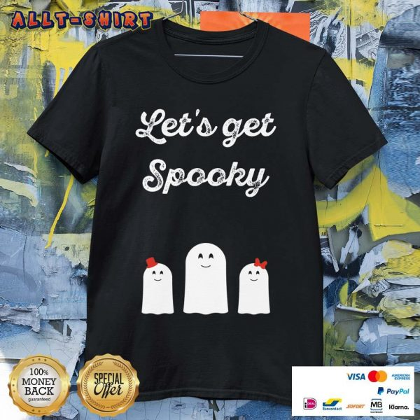 Lets Get Spooky Ghosts Halloween Shirt