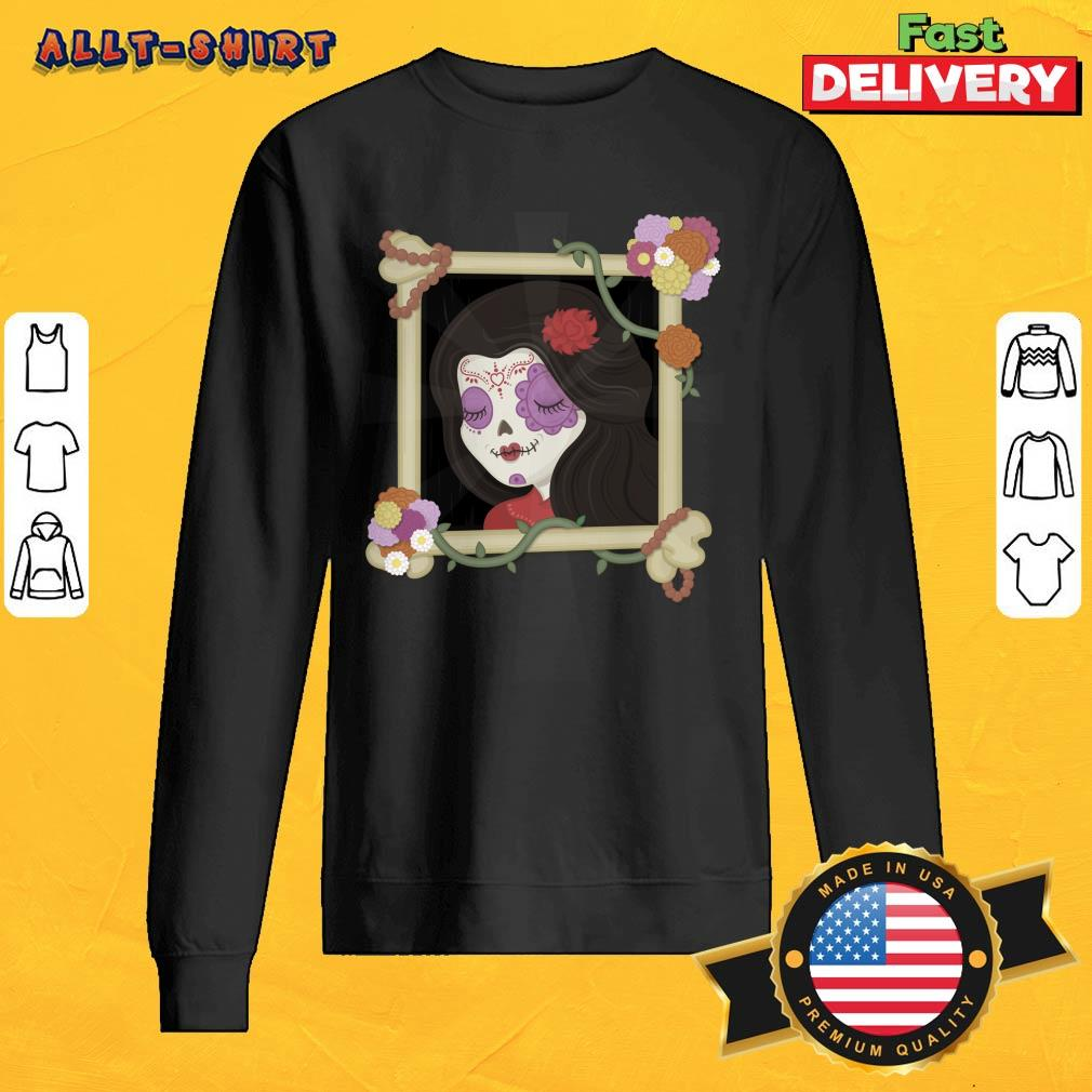 Mexican Girl Picture Day Of The Dead Sweatshirt