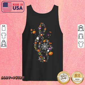 Pumpkin Candy Witch Ghost Treble Clef Happy Halloween Tank Top