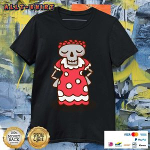 Skeleton Wear Red Dress Mexican Holiday Shirt