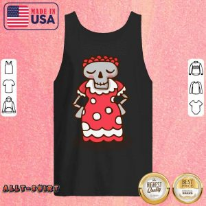 Skeleton Wear Red Dress Mexican Holiday Tank Top