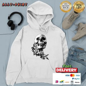 Skull And Magnolia Flowers Day Of The Dead Hoodie