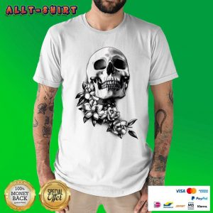 Skull And Magnolia Flowers Day Of The Dead Shirt
